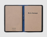 Berlin Leather Notebook Cover - Blue