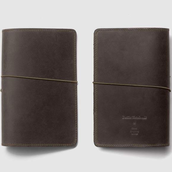 Berlin Leather Notebook Cover - Olive