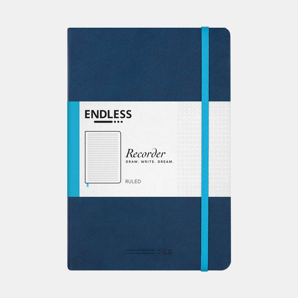 Endless Recorder Notebook - A5 Ruled Deep Ocean