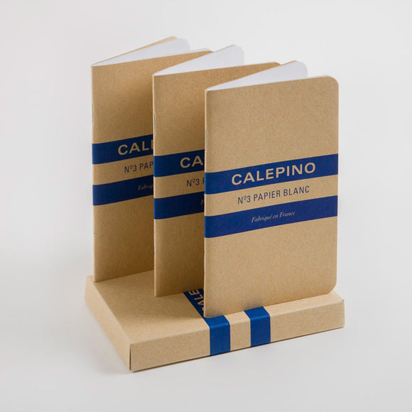 Calepino - No. 3 Notebook Plain Set of 3