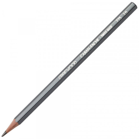Caran D'ache Grafwood Pencil 2B - 3 Pack