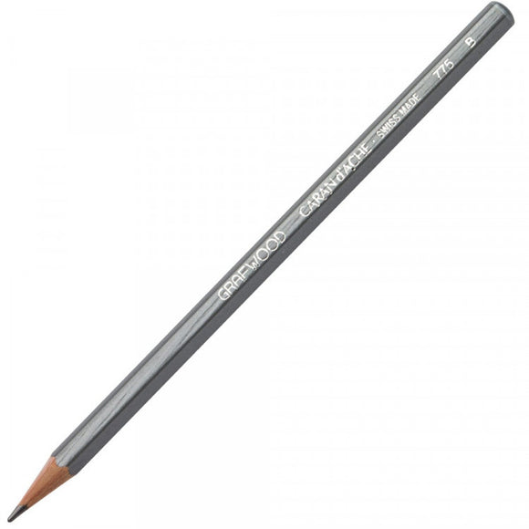 Caran D'ache Grafwood Pencil B - 3 Pack
