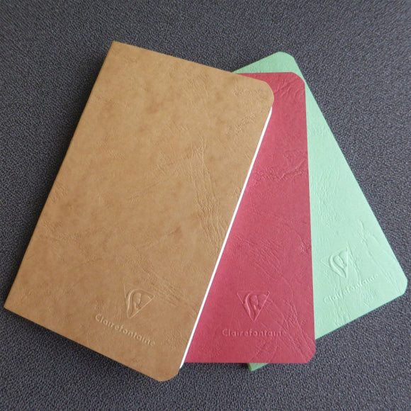 Clairefontaine AgeBag 3-Pack A6 Staple Notebook