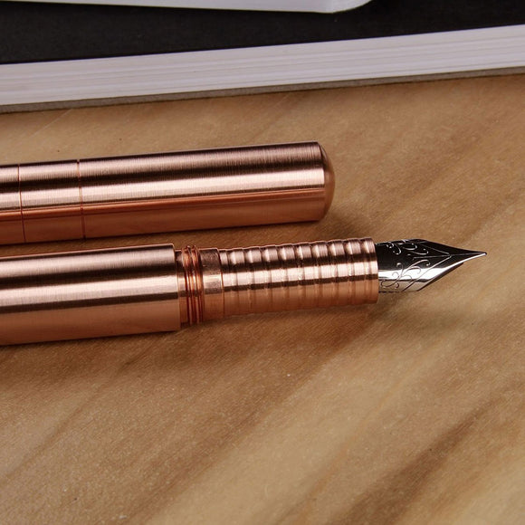 Schon DSGN - Pocket Six FP - Copper with Copper Ridged Section M Nib