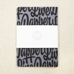 Dapper Notes - My Friends Large (Black and Grey)