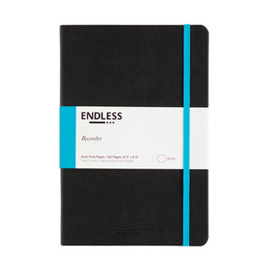 Endless Recorder Notebook - A5 Blank Black