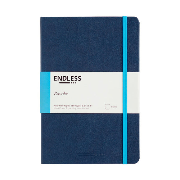 Endless Recorder Notebook - A5 Blank Deep Ocean