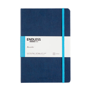 Endless Recorder Notebook - A5 Dot Deep Ocean