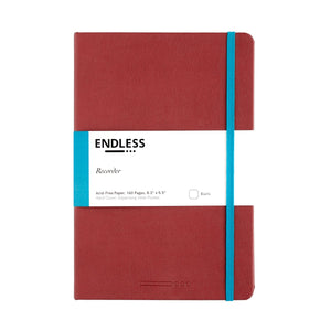 Endless Recorder Notebook - A5 Blank Crimson Sky