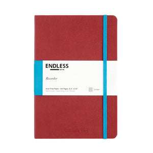 Endless Recorder Notebook - A5 Dot Crimson Sky