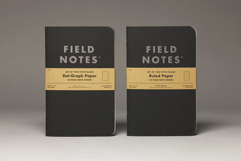 Field Notes - Pitch Black NOTEBOOK Set of 2