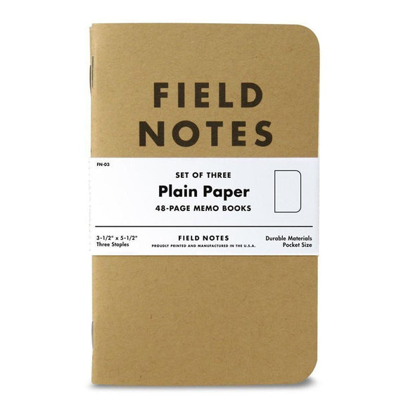 Field Notes - Plain Set of 3