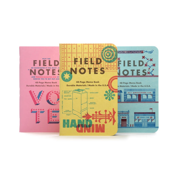 Field Notes - United States of Letterpress - Pack C