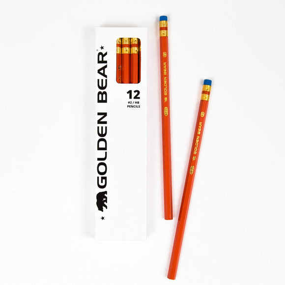 Golden Bear Pencil - 12 Pack
