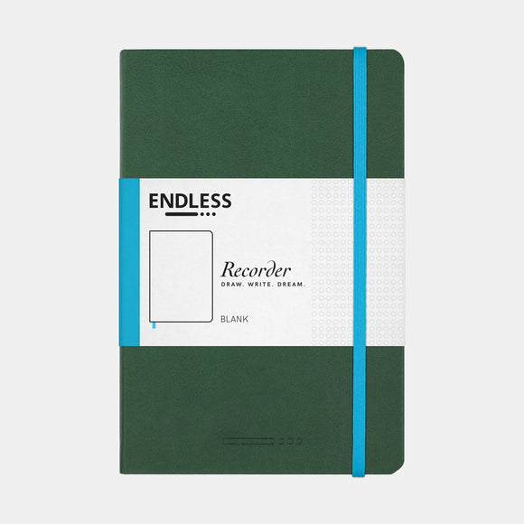 Endless Recorder Notebook - A5 Blank Forest Canopy