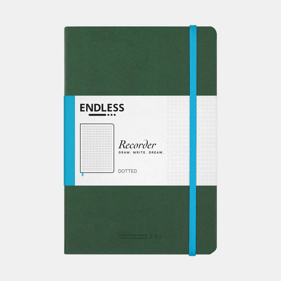 Endless Recorder Notebook - A5 Dot Forest Canopy