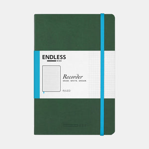 Endless Recorder Notebook - A5 Ruled Forest Canopy