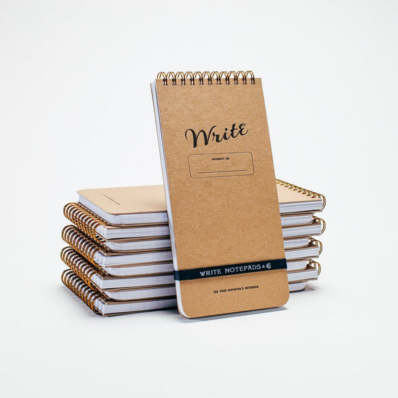 Write Notepads & Co - Reporter's Notebook - Kraft