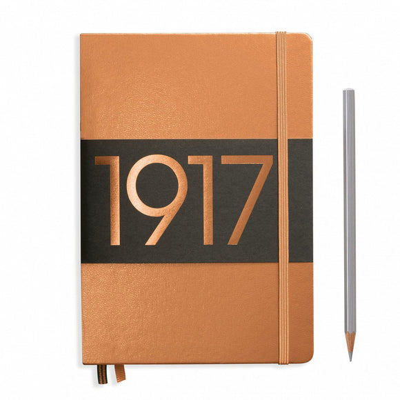 Leuchtturm 1917 Hardback Metallic A5 Notebook