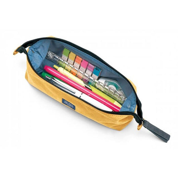 Midori Medium Canvas Pencil Case - Yellow