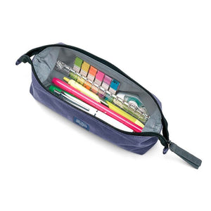 Midori Medium Canvas Pencil Case - Navy