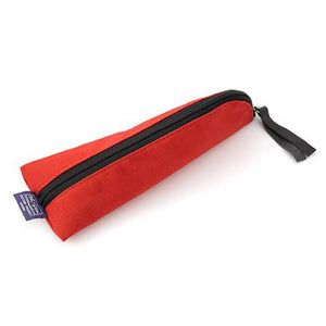 Midori Small Canvas Pencil Case - Red