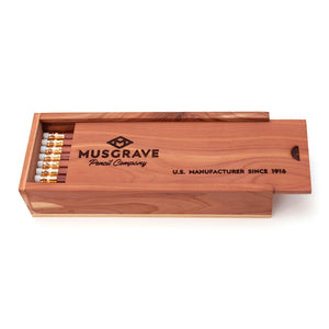 Musgrave #2 Tennessee Red Pencil - Wooden Box of 24
