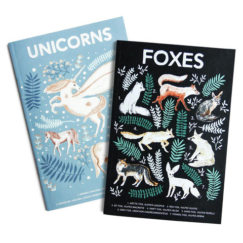 Papio Press - Natural History Foxes & Unicorns (Twin Pack)