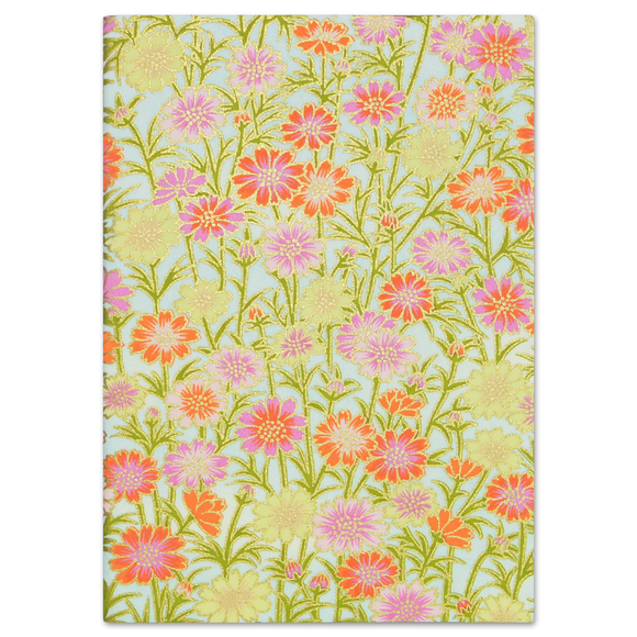 ESMIE Paperback Notebook Orange/Pink Daisies