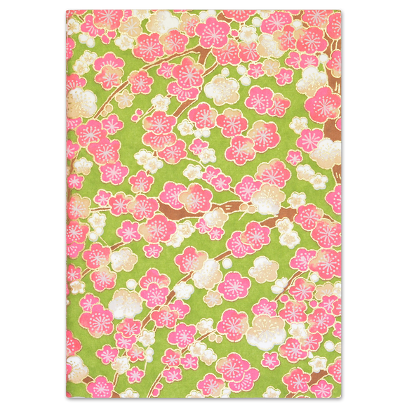 ESMIE Paperback Notebook Pink Blossom/Dark Green