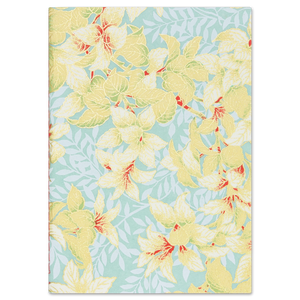 ESMIE Paperback Notebook Taupe Leaves/Blue