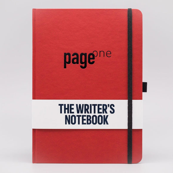 Write Gear - Page One Writers Notebook - Crimson Red