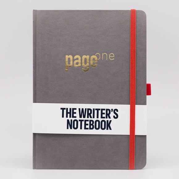 Write Gear - Page One Writers Notebook - Slate Grey