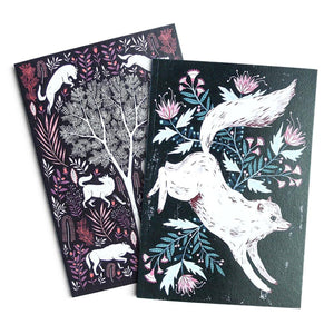 Papio Press - Floral Wolves (Twin Pack)