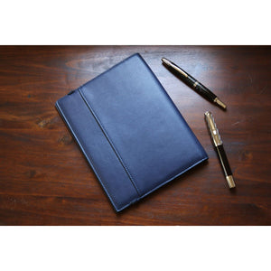 Pebble Leather Notebook Cover - A5 Navy