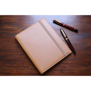 Pebble Leather Notebook Cover - A5 Tan