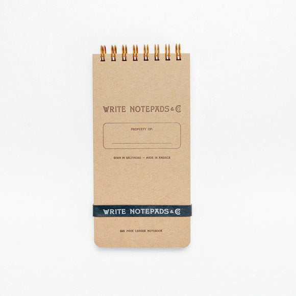 Write Notepads & Co - Pocket Ledger Notebook - Kraft