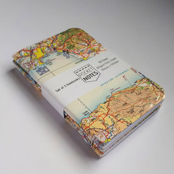 PocketNotes - Aviation Chart  Notebooks - 3 Pack