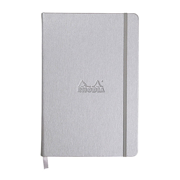 Rhodia A5 Web notebook Hard Cover Silver - dot