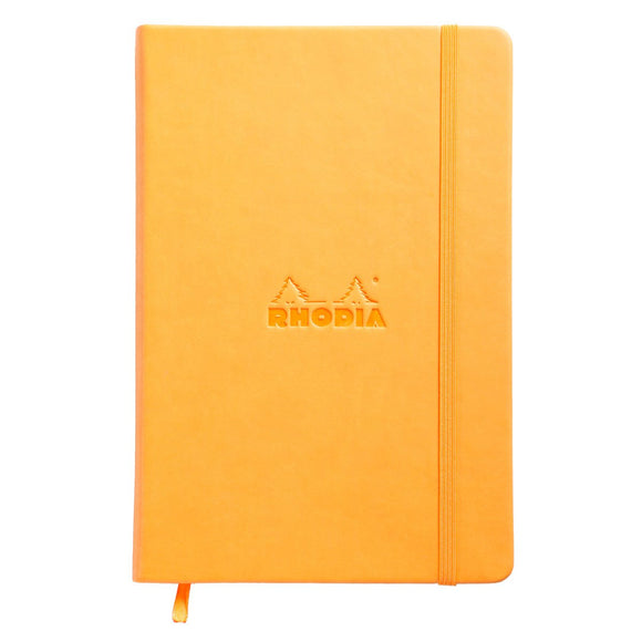 Rhodia A5 Web notebook Hard Cover Orange - Blank