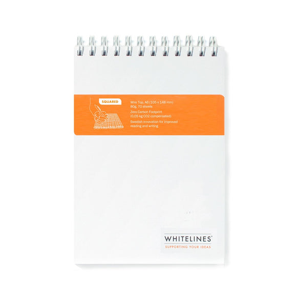 Whitelines - Wiretop A6 Notepad Graph