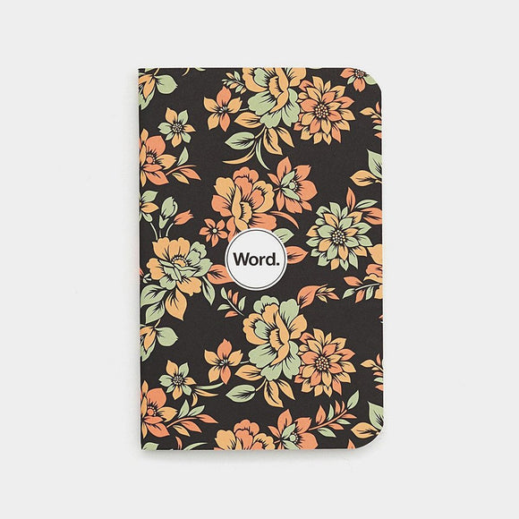 Word Notebooks - Declan Floral Ruled Set of 3