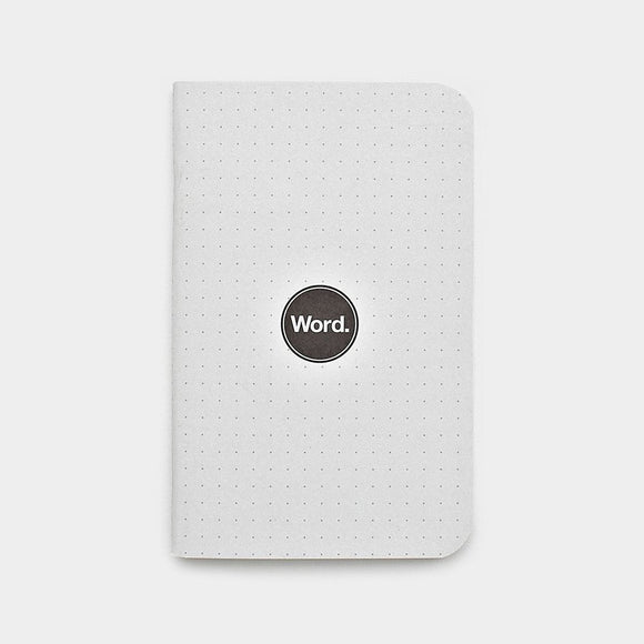 Word Notebooks - Dot Grid Set of 3