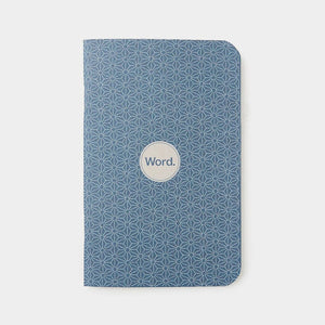 Word Notebooks - Indigo Ruled Set of 3