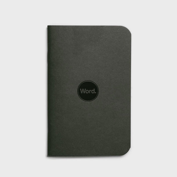 Word Notebooks - Black Ruled Set of 3