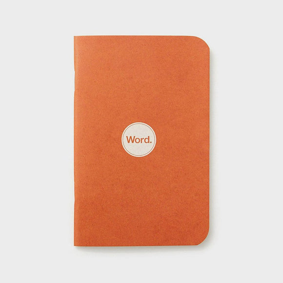 Word Notebooks - Orange Ruled Set of 3