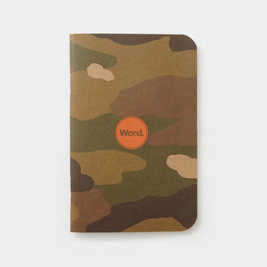 Word Notebooks - Camo Ruled Set of 3
