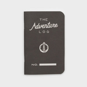 Word Notebooks - The Adventure Log - Black Set of 3