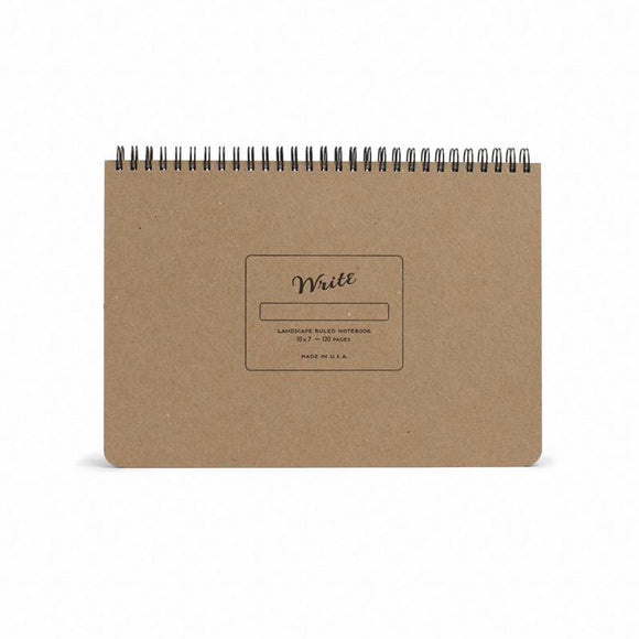 Write Notepads & Co - Landscape Notebook - Kraft