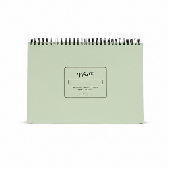 Write Notepads & Co - Landscape Notebook - Pistachio